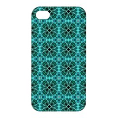 Turquoise Damask Pattern Apple Iphone 4/4s Premium Hardshell Case by linceazul