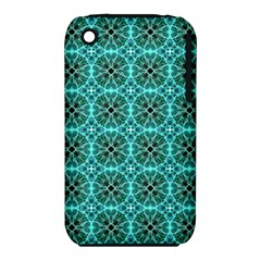 Turquoise Damask Pattern Iphone 3s/3gs by linceazul