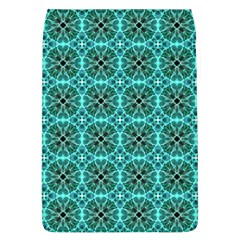 Turquoise Damask Pattern Flap Covers (l)  by linceazul