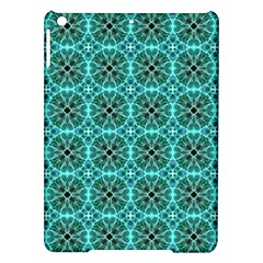Turquoise Damask Pattern Ipad Air Hardshell Cases by linceazul