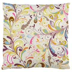 Colorful Seamless Floral Background Large Cushion Case (one Side) by TastefulDesigns