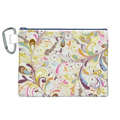 Colorful Seamless Floral Background Canvas Cosmetic Bag (xl) by TastefulDesigns