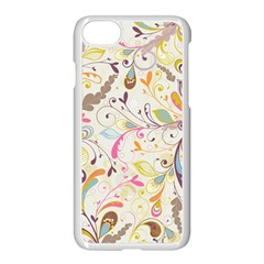 Colorful Seamless Floral Background Apple Iphone 7 Seamless Case (white) by TastefulDesigns