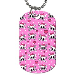 Cute Skulls  Dog Tag (two Sides) by Valentinaart