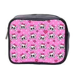 Cute Skulls  Mini Toiletries Bag 2 Side by Valentinaart