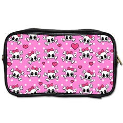 Cute Skulls  Toiletries Bags 2 Side by Valentinaart