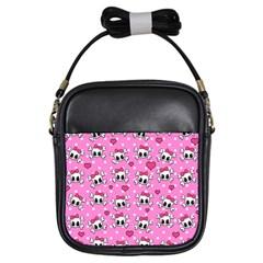 Cute Skulls  Girls Sling Bags by Valentinaart