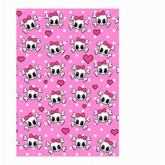 Cute Skulls  Small Garden Flag (two Sides) by Valentinaart