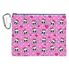 Cute Skulls  Canvas Cosmetic Bag (xxl) by Valentinaart