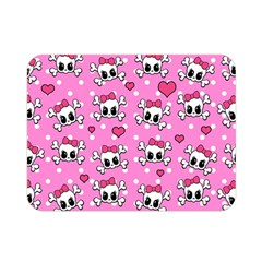 Cute Skulls  Double Sided Flano Blanket (mini)  by Valentinaart