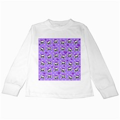 Cute Skulls  Kids Long Sleeve T Shirts by Valentinaart