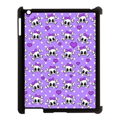 Cute Skulls  Apple Ipad 3/4 Case (black) by Valentinaart