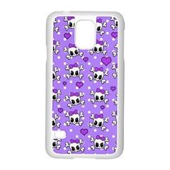 Cute Skulls  Samsung Galaxy S5 Case (white) by Valentinaart