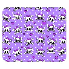 Cute Skulls  Double Sided Flano Blanket (small)  by Valentinaart