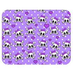 Cute Skulls  Double Sided Flano Blanket (medium)  by Valentinaart