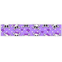 Cute Skulls  Flano Scarf (large) by Valentinaart