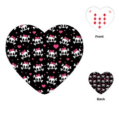 Cute Skulls  Playing Cards (heart)  by Valentinaart