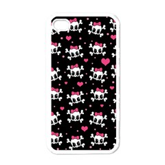 Cute Skulls  Apple Iphone 4 Case (white) by Valentinaart