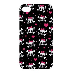 Cute Skulls  Apple Iphone 4/4s Premium Hardshell Case by Valentinaart