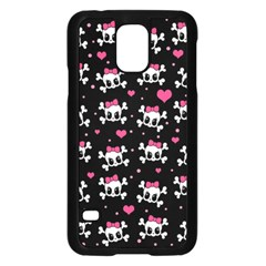 Cute Skulls  Samsung Galaxy S5 Case (black) by Valentinaart