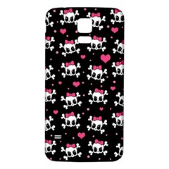 Cute Skulls  Samsung Galaxy S5 Back Case (white) by Valentinaart