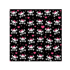Cute Skulls  Small Satin Scarf (square) by Valentinaart