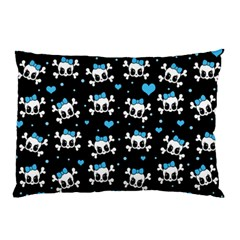 Cute Skulls  Pillow Case by Valentinaart