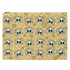 Cute Skull Cosmetic Bag (xxl)  by Valentinaart