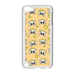 Cute Skull Apple Ipod Touch 5 Case (white) by Valentinaart