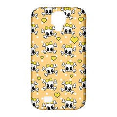 Cute Skull Samsung Galaxy S4 Classic Hardshell Case (pc+silicone) by Valentinaart