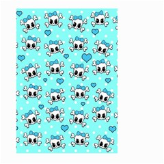 Cute Skull Large Garden Flag (two Sides) by Valentinaart