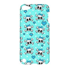 Cute Skull Apple Ipod Touch 5 Hardshell Case by Valentinaart