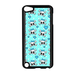 Cute Skull Apple Ipod Touch 5 Case (black) by Valentinaart