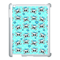 Cute Skull Apple Ipad 3/4 Case (white) by Valentinaart