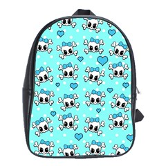 Cute Skull School Bags (xl)  by Valentinaart