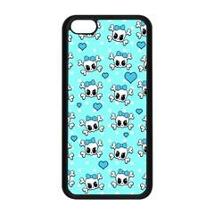 Cute Skull Apple Iphone 5c Seamless Case (black) by Valentinaart