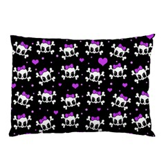 Cute Skull Pillow Case (two Sides) by Valentinaart
