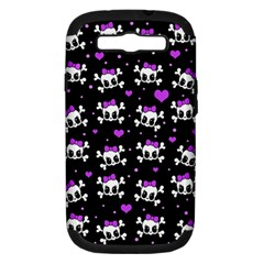 Cute Skull Samsung Galaxy S Iii Hardshell Case (pc+silicone) by Valentinaart
