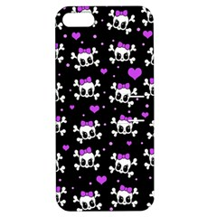 Cute Skull Apple Iphone 5 Hardshell Case With Stand by Valentinaart