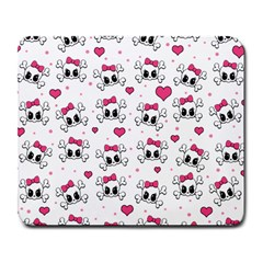 Cute Skull Large Mousepads by Valentinaart