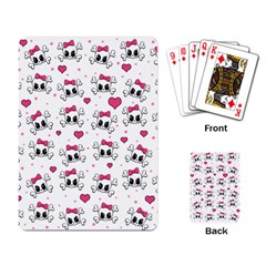 Cute Skull Playing Card by Valentinaart