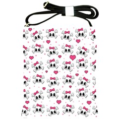 Cute Skull Shoulder Sling Bags by Valentinaart