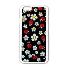 Sixties Flashback Apple Iphone 6/6s White Enamel Case by dawnsiegler