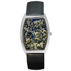 Floral Skies Barrel Style Metal Watch by dawnsiegler