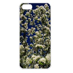 Floral Skies Apple Iphone 5 Seamless Case (white) by dawnsiegler