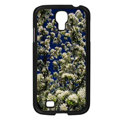 Floral Skies Samsung Galaxy S4 I9500/ I9505 Case (black) by dawnsiegler