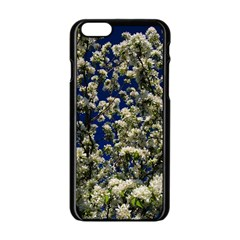 Floral Skies Apple Iphone 6/6s Black Enamel Case by dawnsiegler