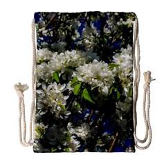 Floral Skies 2 Drawstring Bag (large) by dawnsiegler