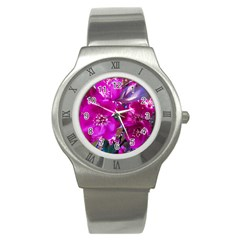 Pretty In Fuchsia Stainless Steel Watch by dawnsiegler