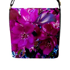 Pretty In Fuchsia Flap Messenger Bag (L)